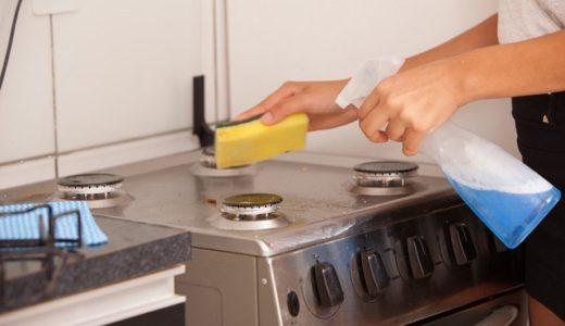 ガスコンロをきれいに掃除したい!焦げが取れないときはどうする?